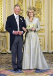 Britain's Prince of Wales and Duchess of Cornwall are seen after wedding in Windsor.
